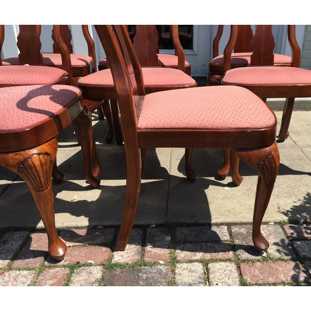Queen Anne Style Mahogany Dining Chairs - Set of 8 - Image 7 of 7