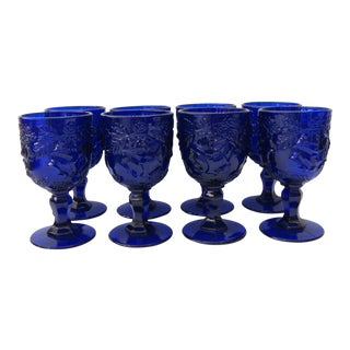 Cobalt Blue Goblets - Set of 8