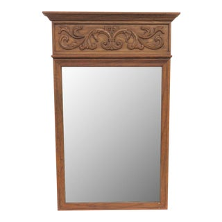 Tradition Carved Oak Mirror
