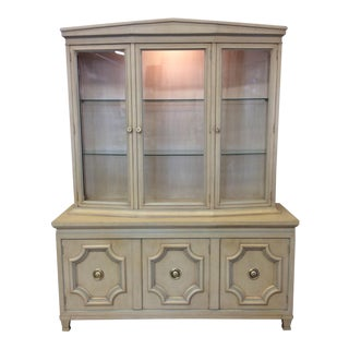Dorothy Draper Neoclassical Style Lighted China Cabinet