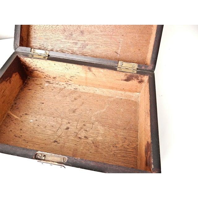 Vintage Wood Jewelry Trinket Box - Image 6 of 9