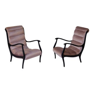 Italian Mid-Century Modern Pink Chairs - A Pair
