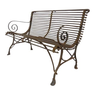 1920 s French Garden Bench. Vintage   Used French Patio and Garden Furniture   Chairish