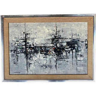 Mid-Century Abstract Cityscape