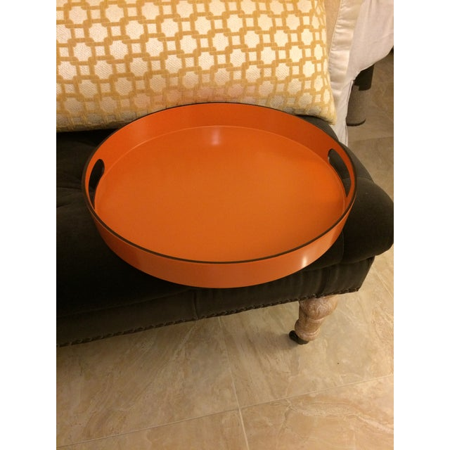 Hermes Style Orange Lacquer Serving Tray - Image 2 of 10