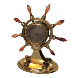 Agate & Brass Nautical Barometer