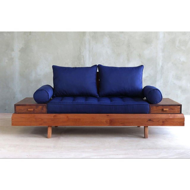 Floating Blue Loveseat by Masaya & Company - Image 2 of 8