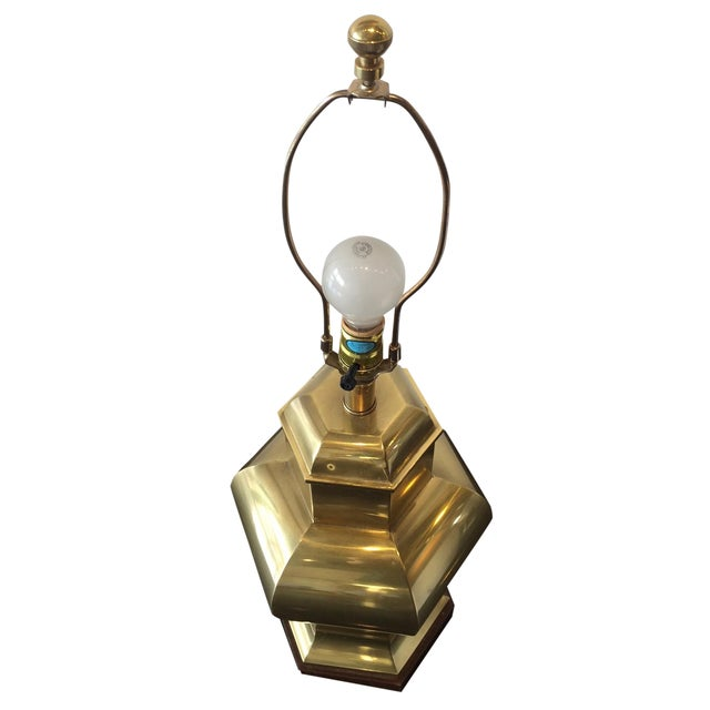 Frederick Cooper Hollywood Regency Brass Lamp - Image 1 of 8