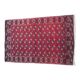 """Early 20th Century Turkoman Wool Rug - 6'9"""" x 10'"""