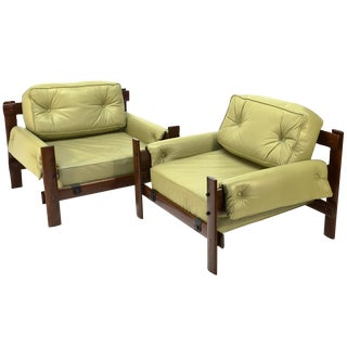 Percival Lafer Brazilian Leather Loungers - A Pair