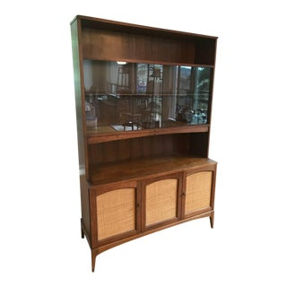 Mid-Century Walnut Display Hutch