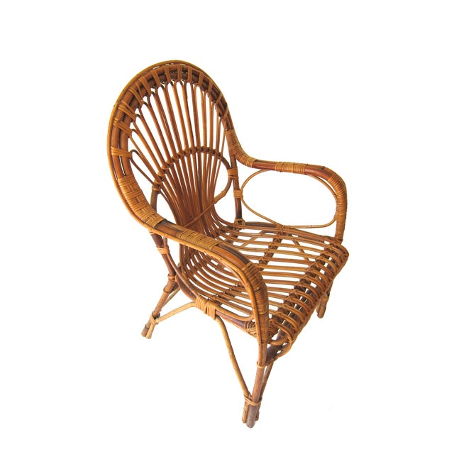 Image of Vintage Rattan Armchair