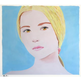 """Girl With Blonde Hair"" Painting"