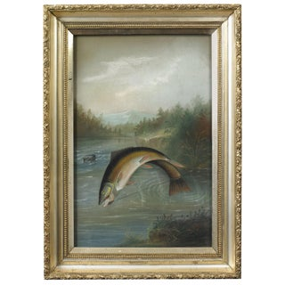 John S. Bower Painting of Trout