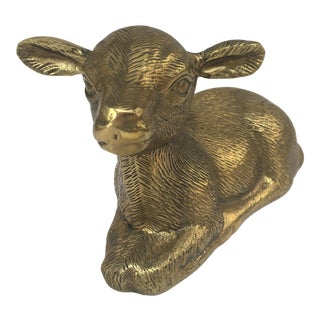 Vintage Brass Baby Lamb