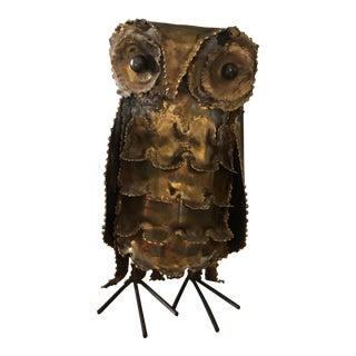 Mid-Century Brutalist Owl Sculpture