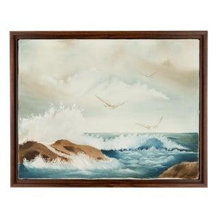 Vintage California Framed Seascape Painting