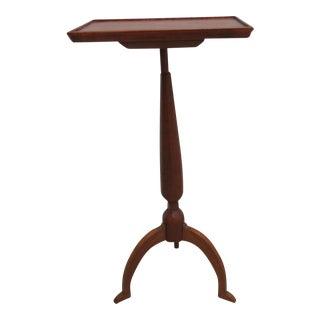 Vintage Cherry Spider Leg End Table