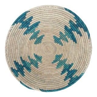 Native American Style Turquoise & Blue Arrow Basket