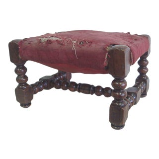 Four Hand-Carved Italian Footstools/Ottomans