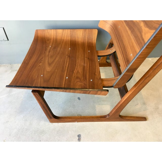 Grete Jalk Style Mid-Century Bent Walnut Side Chair - Image 6 of 10