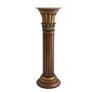 Gilded Corinthian Column Pedestal