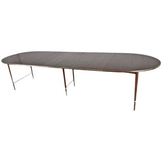 Paul McCobb for Calvin Walnut Dining Table with Six Leaves, USA, circa 1950s