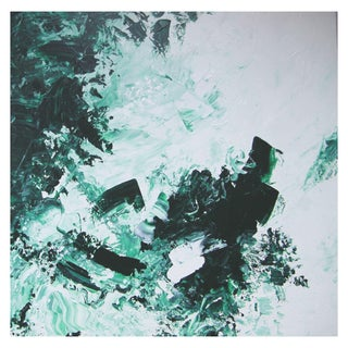 """Evergreen"" Abstract Painting by Celeste Plowden"