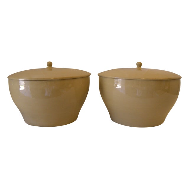Large Lidded Urns - a Pair - Image 1 of 5