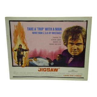 "1968 Vintage ""Jigsaw"" Movie Poster"