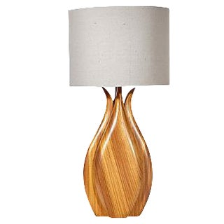 Vintage Zebrawood Lamp