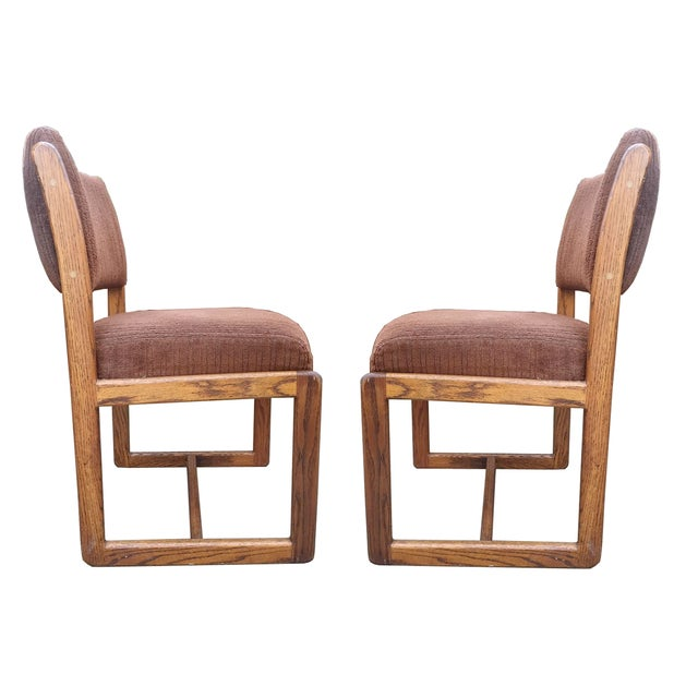 Douglas Furniture: Douglas Furniture Vintage Oak Chairs - Set Of 4