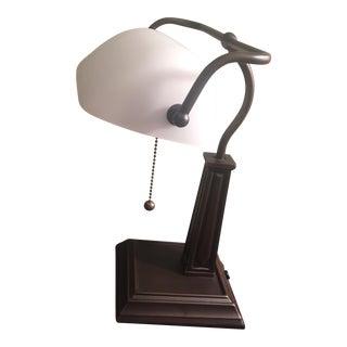 Vintage Banker's Table Lamp