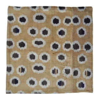Velvet Throw Pillow With Fun Dots