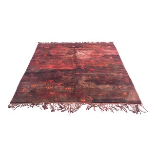 Moroccan Cranberry Wool Area Rug - 9' x 9'6""
