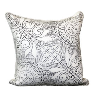Tribal Charcoal Dot Print Pillow