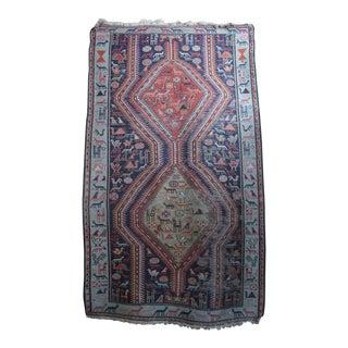 Antique Animal Motif Tabriz Tribal Rug - 4' X 6'11