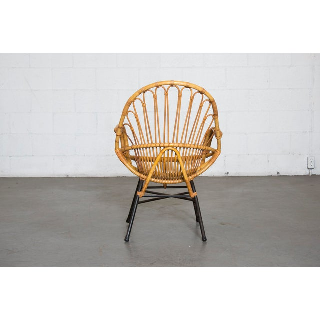 Rohe Noordwolde Bamboo Hoop Chair With Arms - Image 4 of 10