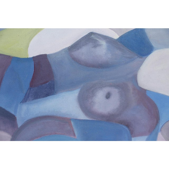 Vintage Cubist Painting of a Woman - Image 7 of 10
