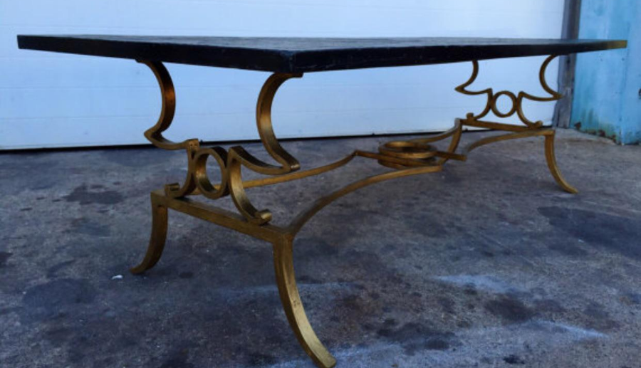 Slate Top Gold Gilded Coffee Table   Image 5 Of 6