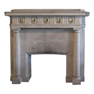 Carved Limestone Fireplace Surround