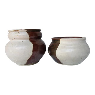 Robert Maxwell Cressey Style Glazed Ceramic Pots- Set of 2
