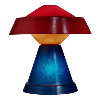 Umberto Riva Very Rare Multicolor Polyester Table Lamp for VeArt, Italy, 1973