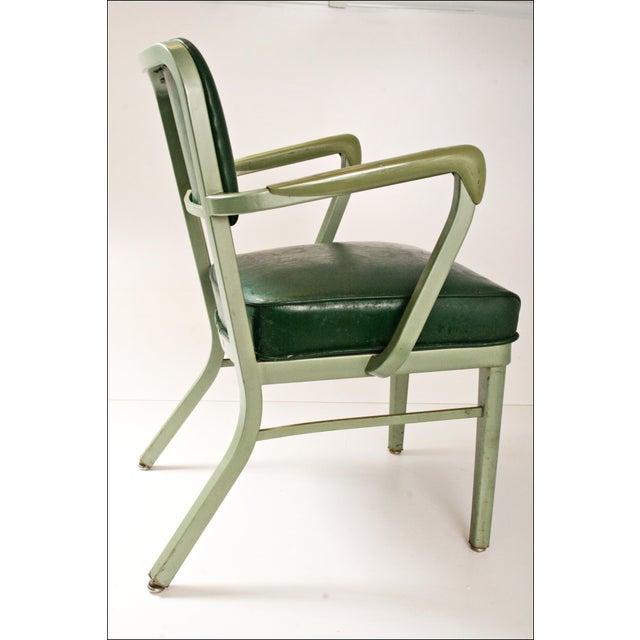 Vintage industrial metal arm chair chairish