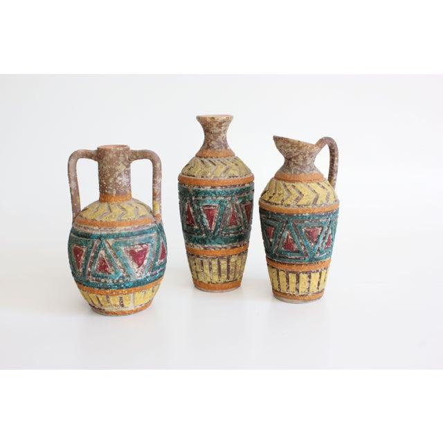 Geometric Incised Italian Art Pottery - Set of 3 - Image 3 of 7