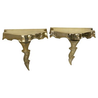 French Brass Consoles - A Pair