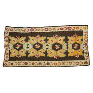 "Vintage Distressed Kilim Rug Runner - 3'1"" X 6'4"""
