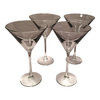 1950s Crystal Martini Glasses - Set of 4