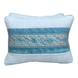 Fortuny Blue & Silver Pillows - A Pair