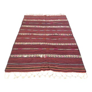 Vintage Turkish Kilim Rug - 4′8″ × 6′11″